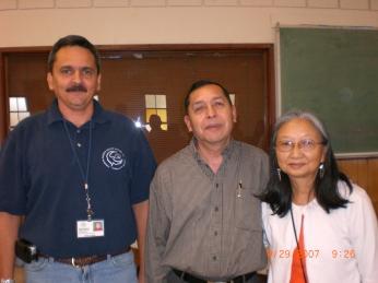 Carolos Londono, dr. Esquivel y Kathy Ahoy